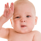 Babies' sweaty forehead sign of health
