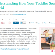 How toddlers see the world – Parents Magazine